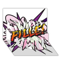 Comic Book Fille! THANK YOU 3D Greeting Card (7x5)