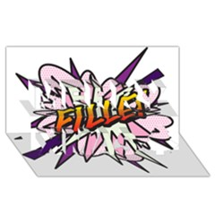 Comic Book Fille! Merry Xmas 3d Greeting Card (8x4)