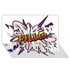Comic Book Fille! Happy New Year 3D Greeting Card (8x4)