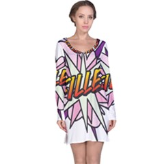 Comic Book Fille! Long Sleeve Nightdresses