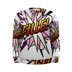 Comic Book Fille! Women s Sweatshirts