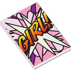 Comic Book Girl!  Large Memo Pads