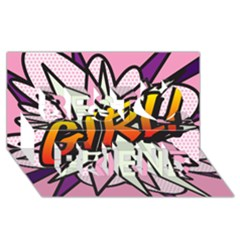 Comic Book Girl!  Best Friends 3D Greeting Card (8x4)