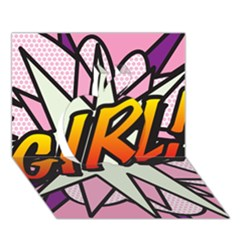 Comic Book Girl!  Apple 3d Greeting Card (7x5)
