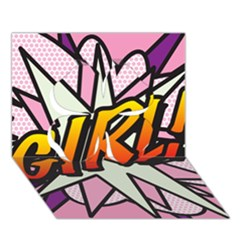 Comic Book Girl!  Clover 3d Greeting Card (7x5)