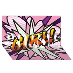 Comic Book Girl!  #1 Mom 3d Greeting Cards (8x4)