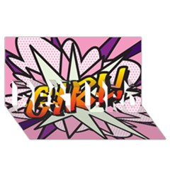 Comic Book Girl!  Best Bro 3d Greeting Card (8x4)