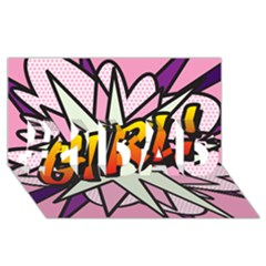 Comic Book Girl!  #1 DAD 3D Greeting Card (8x4)