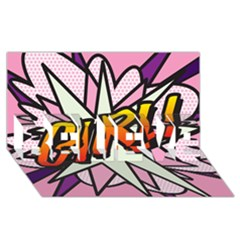 Comic Book Girl!  BELIEVE 3D Greeting Card (8x4)