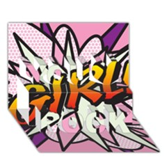 Comic Book Girl!  You Rock 3D Greeting Card (7x5)