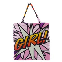 Comic Book Girl!  Grocery Tote Bags