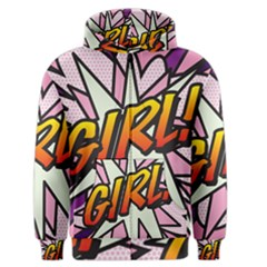 Comic Book Girl!  Men s Zipper Hoodies