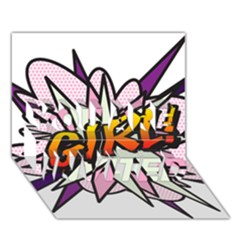 Comic Book Girl!  You Are Invited 3d Greeting Card (7x5)