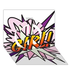 Comic Book Girl!  Peace Sign 3D Greeting Card (7x5)