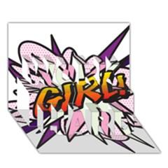Comic Book Girl!  WORK HARD 3D Greeting Card (7x5)