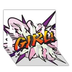 Comic Book Girl!  TAKE CARE 3D Greeting Card (7x5)
