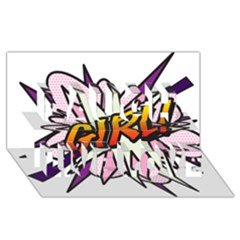 Comic Book Girl!  Laugh Live Love 3d Greeting Card (8x4)