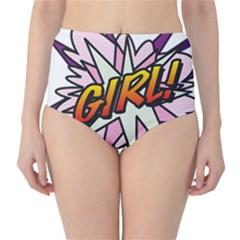 Comic Book Girl!  High-Waist Bikini Bottoms