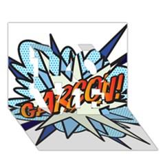 Comic Book Garcon! LOVE 3D Greeting Card (7x5)