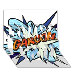 Comic Book Garcon! THANK YOU 3D Greeting Card (7x5)