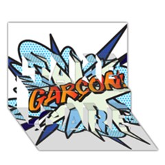 Comic Book Garcon! TAKE CARE 3D Greeting Card (7x5)