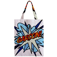 Comic Book Garcon! Zipper Classic Tote Bags