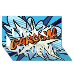 Comic Book Garcon! Best Friends 3D Greeting Card (8x4)