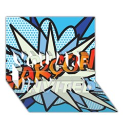Comic Book Garcon! YOU ARE INVITED 3D Greeting Card (7x5)
