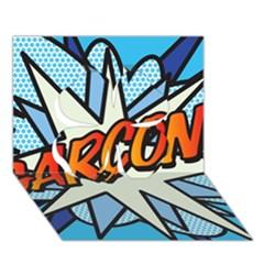 Comic Book Garcon! Clover 3D Greeting Card (7x5)
