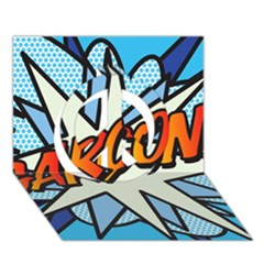 Comic Book Garcon! Peace Sign 3D Greeting Card (7x5)