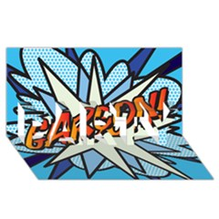 Comic Book Garcon! Party 3d Greeting Card (8x4)