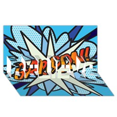 Comic Book Garcon! BELIEVE 3D Greeting Card (8x4)