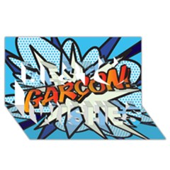 Comic Book Garcon! Best Wish 3d Greeting Card (8x4)