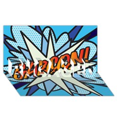 Comic Book Garcon! Engaged 3d Greeting Card (8x4)