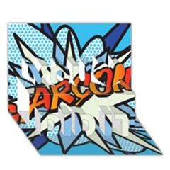 Comic Book Garcon! You Did It 3D Greeting Card (7x5)