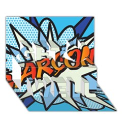 Comic Book Garcon! Get Well 3d Greeting Card (7x5)