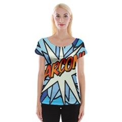 Comic Book Garcon! Women s Cap Sleeve Top