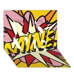 Comic Book Mine! LOVE 3D Greeting Card (7x5)