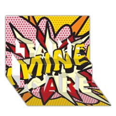 Comic Book Mine! Take Care 3d Greeting Card (7x5)