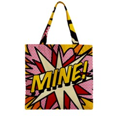 Comic Book Mine! Zipper Grocery Tote Bags