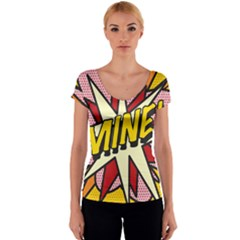Comic Book Mine! Women s V-Neck Cap Sleeve Top