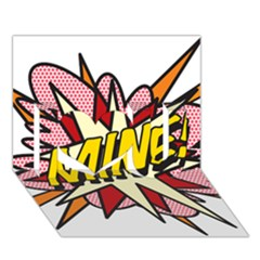Comic Book Mine! I Love You 3D Greeting Card (7x5)