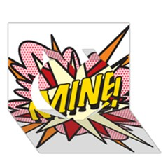 Comic Book Mine! Heart 3D Greeting Card (7x5)