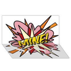 Comic Book Mine! Twin Heart Bottom 3d Greeting Card (8x4)