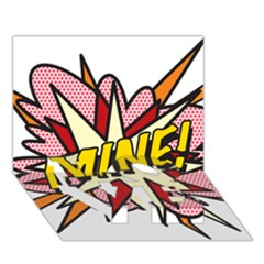 Comic Book Mine! Love Bottom 3d Greeting Card (7x5)