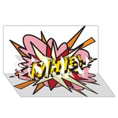 Comic Book Mine! SORRY 3D Greeting Card (8x4)