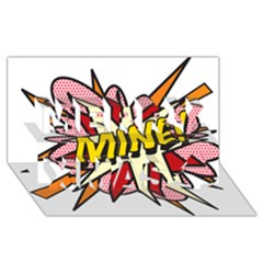 Comic Book Mine! Merry Xmas 3D Greeting Card (8x4)