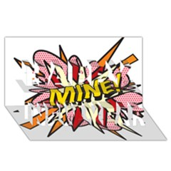 Comic Book Mine! Happy New Year 3d Greeting Card (8x4)