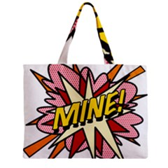Comic Book Mine! Zipper Tiny Tote Bags