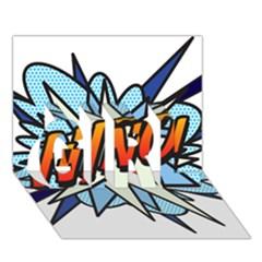 Comic Book Nino! GIRL 3D Greeting Card (7x5)